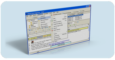 black hole organizer software is a free form web enabled