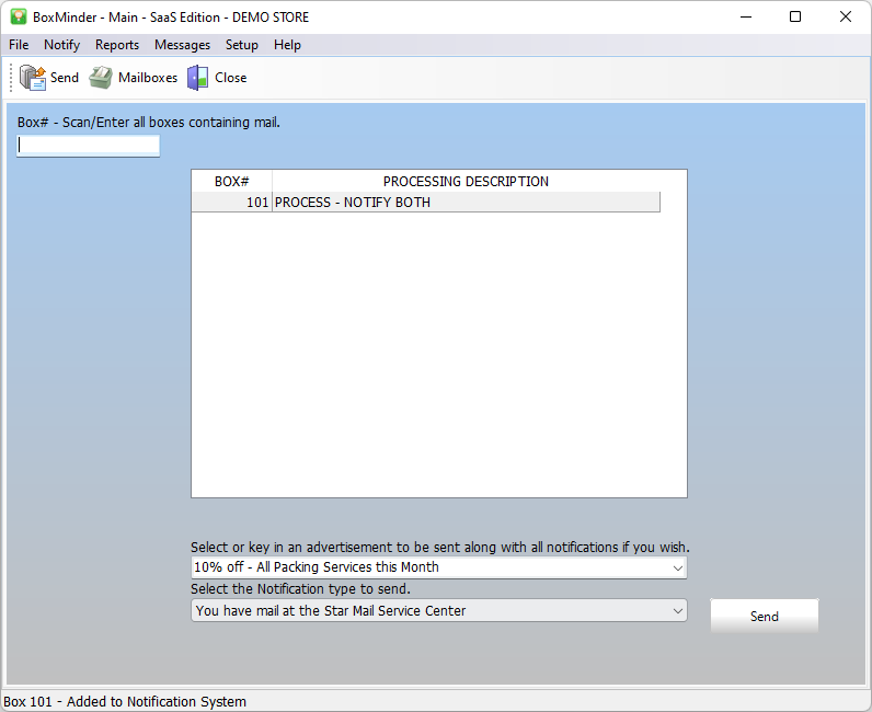 BoxMinder Software - Mailbox Rental Notification System from StarreSoft